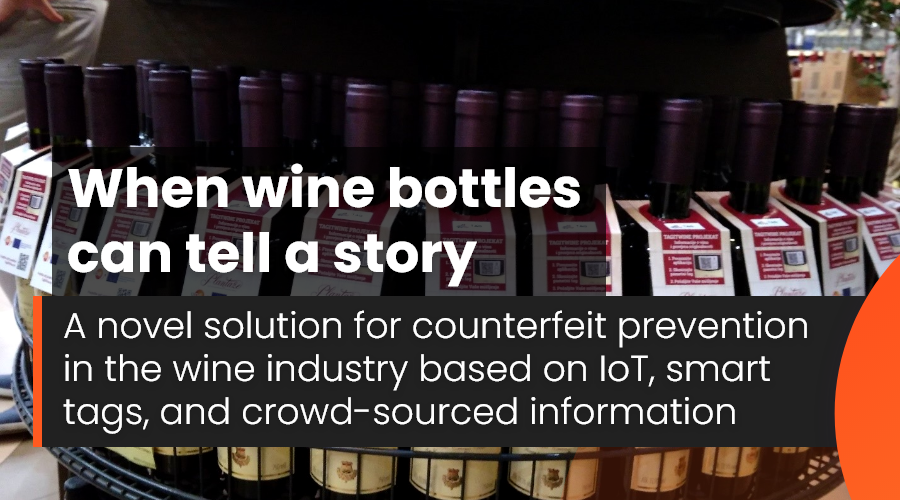 When wine bottles can tell a story